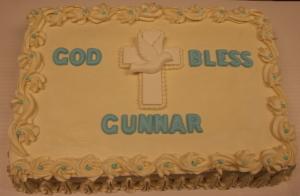 Christening Cake: Cross and Dove