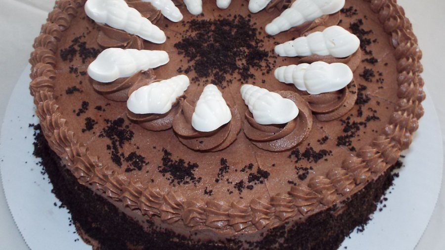 Chocolate Sea Salt Mouse Cake