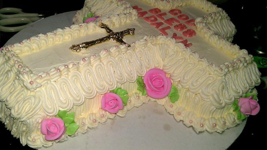 Cross Shaped Cake