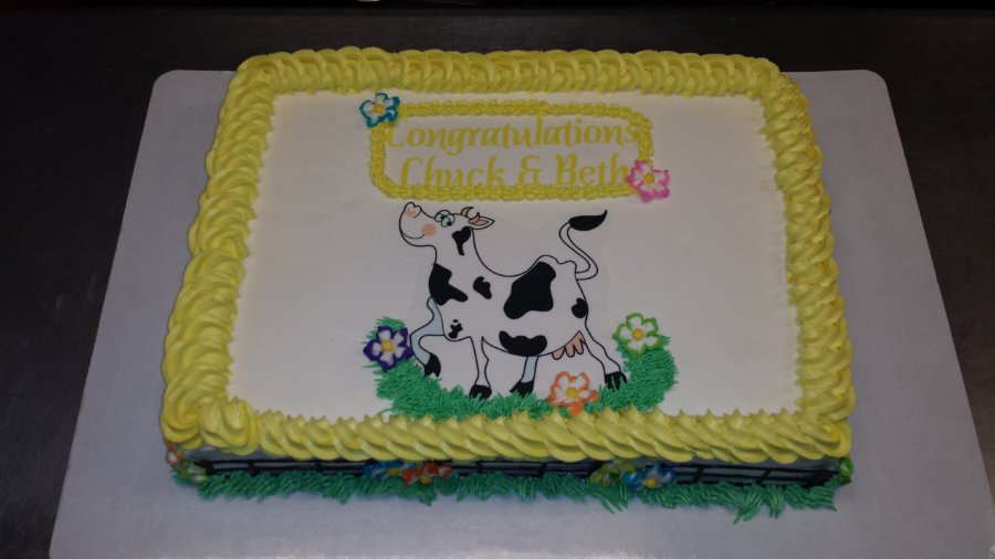 "It Was ""Cow"" Cakes Day At Blue Rose Desserts!"